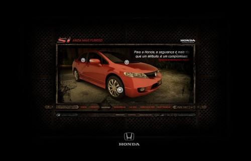Minisite Honda Civic Si