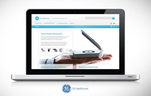 GE Vscan Landing Page